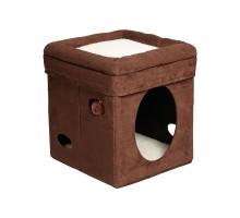 Домик лежанка для кошки MIDWEST CURRIOUS CAT CUBE 38,4Х38,4Х42H СМ