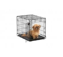 Клетка для собаки MIDWEST ICRATE черная с одной дверью, 61Х46Х48см + миска на клетку 300 мл