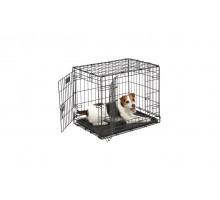 Клетка для собаки MIDWEST ICRATE черная с двумя дверями, 61Х46Х48 см + миска на клетку 300 мл