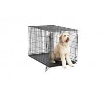 Клетка для собак MIDWEST ICRATE черная с одной дверью -122Х76Х84см + миска на клетку 300 мл