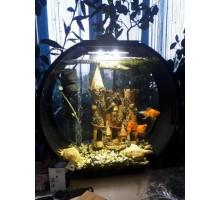 Аквариум АА-Aquarium Deco O UPG, 20л, черный, 395*187*375мм
