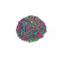 GloFish Гравий Розовый/ зеленый/голубой, с GLO вкраплениями, 2.26кг