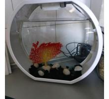 Аквариум АА-Aquarium Deco O UPG, 20л, белый, 395*187*375мм