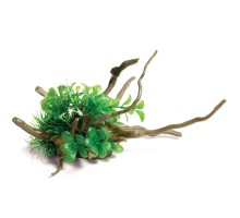 """Грот для аквариума Laguna """"Коряга с растениями"""" M, 270*170*130мм"""