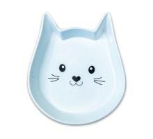 КерамикАрт миска керамическая для кошек Мордочка кошки 200 мл, белая