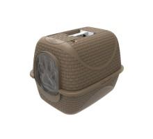 BAMA PET био-туалет для кошек PRIVE' 42х50,5х39,6h см, коричневый