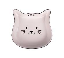 КерамикАрт миска керамическая для кошек Мордочка кошки 200 мл, черный с белым