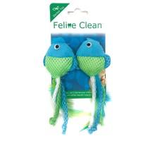 Feline Clean игрушка для кошек Dental Рыбки, ленты и перья (2 шт.)