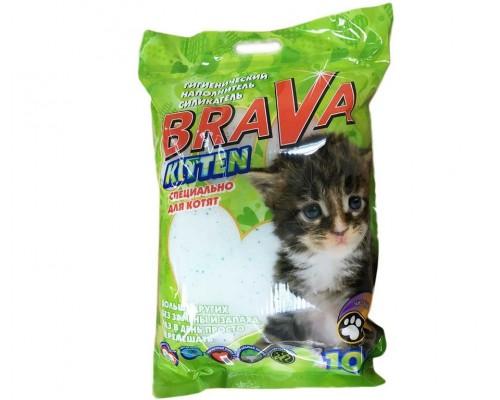 Наполнитель для кошачьих туалетов Brava (Брава) KITTEN 10Л силикагелевый