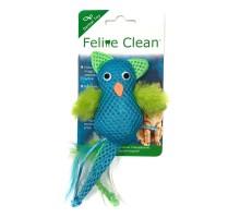 Feline Clean игрушка для кошек Dental Сова, хвост с перьями