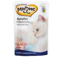 Мнямс паучи для кошек Буйабес по-Марсельски (рыба с морепродуктами) 85 г * 12 шт