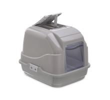 Закрытый туалет для кошек Imac (Имак) EASY CAT, бежево-серый, 50х40х40см