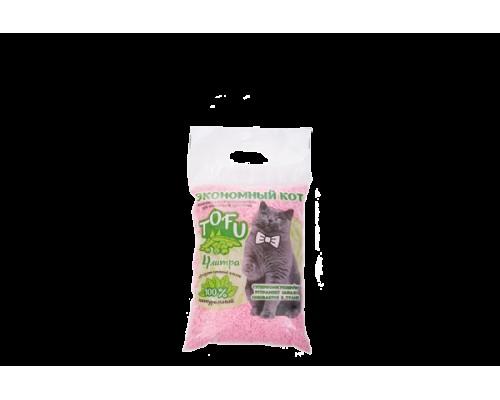 """Комкующийся наполнитель для кошачьего туалета """"Экономный кот"""" Toffu 4 литра аромат персика"""