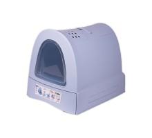 Закрытый туалет для кошек Imac (Имак) ZUMA, пепельно-синий, 40х56х42,5см