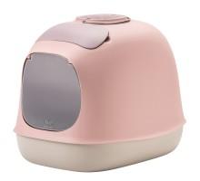 """United Pets био-туалет """"Minù"""" в комплекте с совочком, пакетами для уборки и угольным фильтром, 40х40х50 см, розовый/сер"""