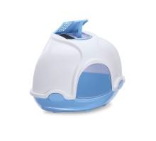 Закрытый туалет для кошек Imac (Имак) GINGER, синий, 50х40х40см угловой