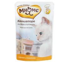 Мнямс паучи для кошек Каччиаторе по-Неаполитански (курица с томатами) 85 г * 12 шт