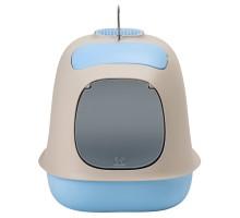 """United Pets био-туалет """"Minù"""" в комплекте с совочком, пакетами для уборки и угольным фильтром, 40х40х50 см, серый/голуб"""