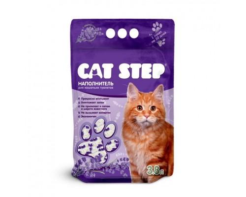 """Наполнитель для кошачьих туалетов Cat Step """"Лаванда"""" 7,6 л, силикагелевый впитывающий"""