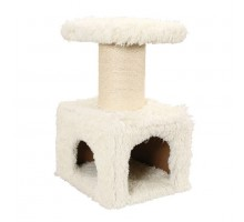 Домик Zolux с когтеточкой для кошки YETI Master, 50*40*83 см + игрушка, белый