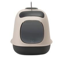 """United Pets био-туалет """"Minù"""" в комплекте с совочком, пакетами для уборки и угольным фильтром ,40х40х50 см,серый/тем-сер"""