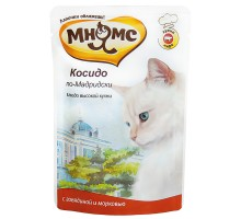 Мнямс паучи для кошек Косидо по-мадридски (говядина с морковью) 85 г * 12 шт