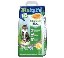 BIOKAT'S CLASSIC FRESH наполнитель комкующийся c ароматизатором 10 л
