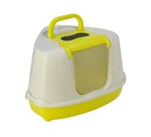 Moderna био-туалет угловой Flip Corner 55x45x38h см с совком, желтый