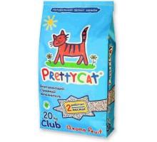 Наполнитель PrettyCat Aroma Fruit глиняный, впитывающий c деокристаллами - 20 кг