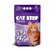 """Наполнитель для кошачьих туалетов Cat Step """"Лаванда"""" 3,8л, силикагелевый впитывающий"""