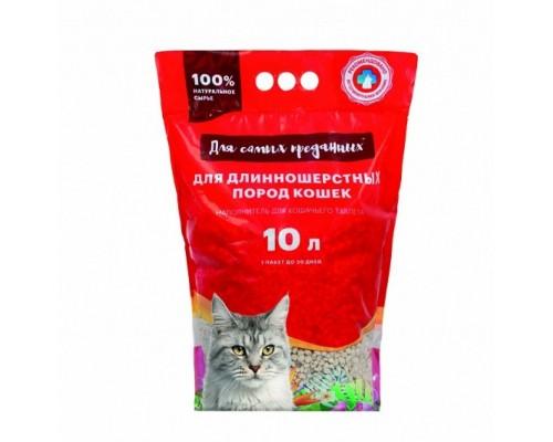 Наполнитель для кошачьих туалетов Для самых преданных 20 л для длинношерстных пород