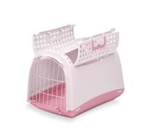 Переноска IMAC (Имак) LINUS CABRIO д/кошек пепельно-розовый, 50х32х34,5см