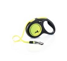 flexi рулетка New Neon M (до 25 кг) лента 5 м