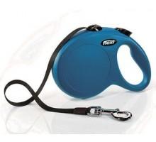Рулетка для собак Flexi NEW CLASSIC M/L 5м/до 50 кг синяя, лента
