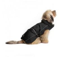 Нано куртка Dog Gone Smart зимняя с меховым воротником Aspen parka 61см, черный