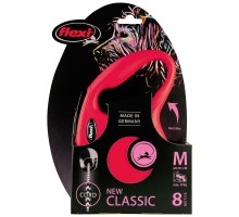 flexi рулетка New Classic M (до 20 кг) 8 м трос красная