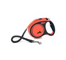 flexi рулетка Xtreme L (до 65 кг) 5 м лента оранжевая