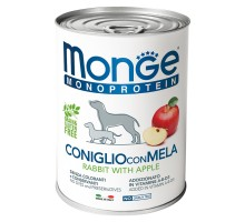 Monge Dog Monoprotein Fruits консервы для собак паштет из кролика с рисом и яблоками 400г