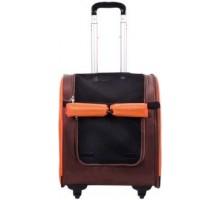 Тележка-трансформер IBIYAYA LISO для собак и кошек до 10 кг коричневая/оранжевая