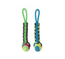 Игрушка для собак AROMADOG PETPARK плетенка с теннисным мячом 8 см
