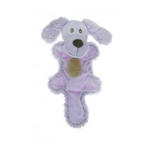Игрушка для собак AROMADOG Собачка с хвостом 25 см сиреневая