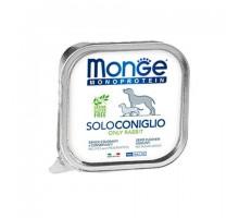 Паштет для собак MONGE DOG MONOPROTEICO SOLO, кролик - 150 грамм