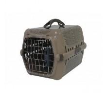 Переноска Moderna Wildlife Переноска 49x32x30h см с металлической дверцей, бежевая + пеленки Доброзверики 60*60см 5штук