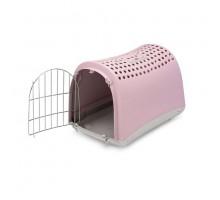Переноска IMAC (Имак) LINUS д/кошек пепельно-розовый, 50х32х34,5см