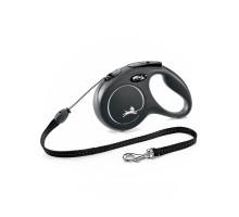 flexi рулетка New Classic М (до 20 кг) 5 м трос черная