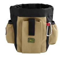 Hunter сумочка для лакомств Profi с карманами и клипсы для ремня, бежевая
