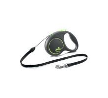 flexi рулетка Black Design S (до 12 кг) 5 м трос черный/зеленый