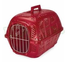 Переноска IMAC (Имак) CARRY SPORT д/кошек бордовый,с металлической дверью, 48,5х34х32см