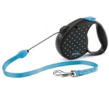 Рулетка для собак Flexi COLOR М 5м/ до 20 кг голубая, трос