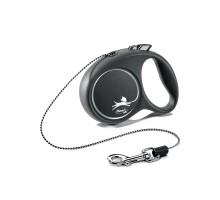 flexi рулетка Black Design XS (до 8 кг) 3 м трос черный/серебро